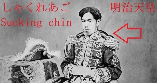 Sucking_chin_of_Meiji_emperor_similar_with_Hapsburg_20.jpg